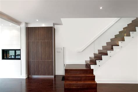 magnificent hand railing mode toronto modern staircase