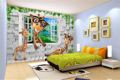 Wallpaper With Animals For Rooms - custom wallpaper 3d animals room backdrops 3d