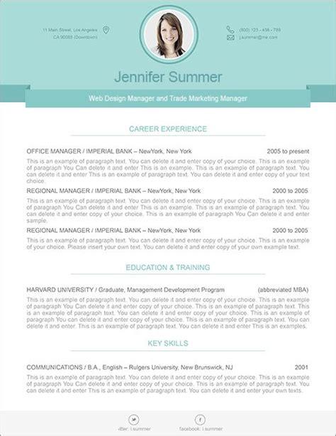 modern resume template premium line of resume cover