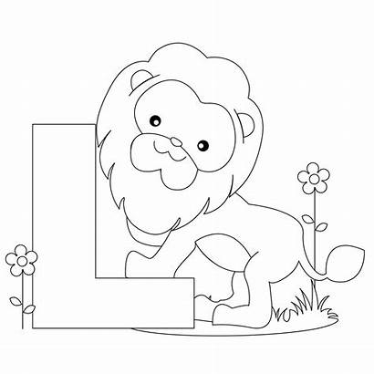 Letter Coloring Alphabet Printable Tracing Worksheets Animals
