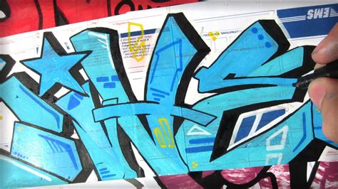 true blue graffiti sticker speed art youtube
