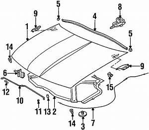 Saturn Sl2 Retainer  Insulation  Clip  Insulator  Hood