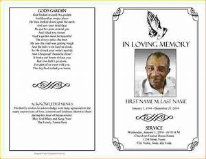 Funeral brochure template word 4 funeral program template for Funeral leaflet template