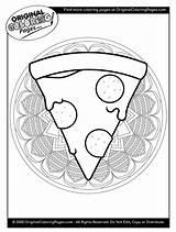 Pizza Coloring Quiz sketch template