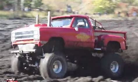 dodge mud truck muddy monday lil red express dodge back in action
