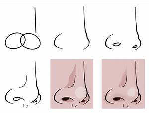 Drawing a cartoon nose