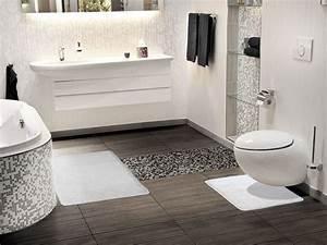 Badezimmer Weiß Grau : badematte uni ~ Markanthonyermac.com Haus und Dekorationen