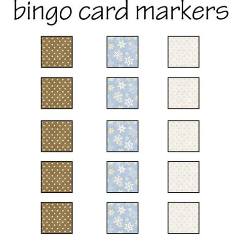 winter bingo card markers northpolechristmascom