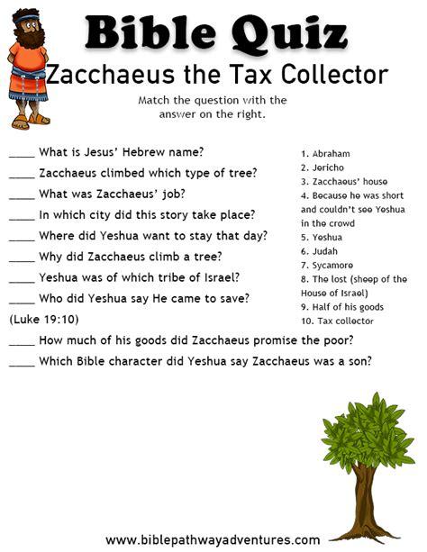 bible quiz zacchaeus the tax collector szkoła