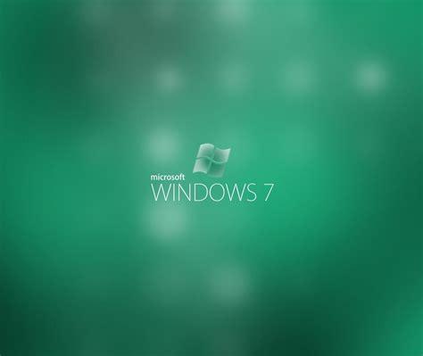 Microsoft Windows 7 Green Backgrounds