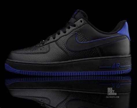 Nike Air Force 1 Low Black / Royal Blue   SNEAKERS ADDICT?