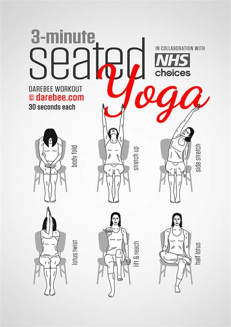 exercises for sitting at desk how to do yoga while sitting at work infographic