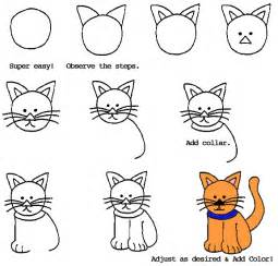 how to draw a cat step by step clip animation
