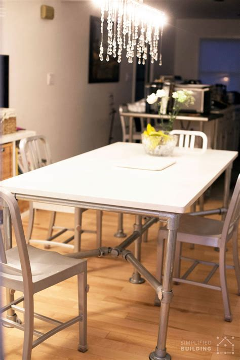 Kitchen Table Quartz Top by Diy Quartz Dining Table Built With Pipe And Kee Kl