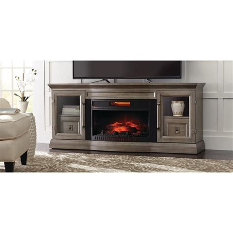 electric fireplace tv stand home depot home decorators collection cinder lake 65 in tv stand