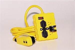 Portable Ground Fault Circuit Interrupter W   Four 15 A