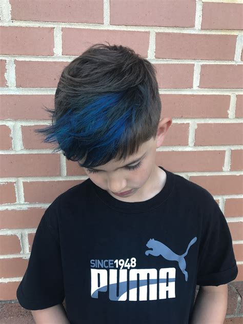 Boys Blue Highlights Hair Peinados Blue Hair