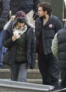 Aaron Taylor Johnson 23 Keeps Wife Sam 46 Warm As He Visits Her On The Set Of 50 Shades Of