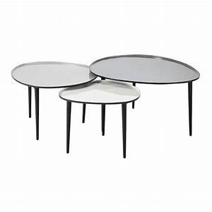 Table Gigogne Maison Du Monde : 3 tables basses gigognes en m tal l 59 cm l 75 cm galet maisons du monde ~ Teatrodelosmanantiales.com Idées de Décoration