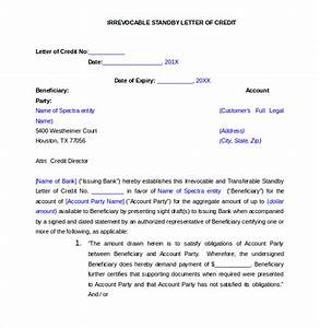 standby letter of credit form sample documentary With irrevocable letter of credit template
