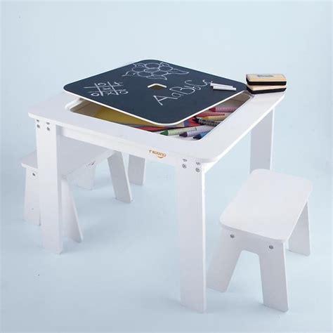 reversible white chalkboard table modern