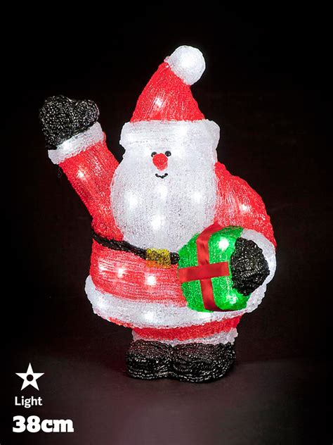 led acrylic figures christmas decorations light  santa