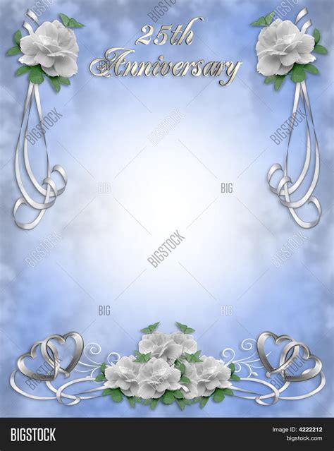 25Th Wedding Anniversary Invitation Image & Photo Bigstock