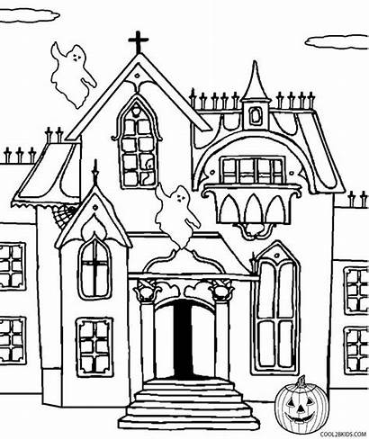 Haunted Coloring Castle Pages Printable Printables Drawing