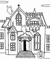 Haunted Coloring Castle Pages Printable Printables Drawing Line Cool2bkids Spooky Halloween Clip Print Pdf Getdrawings Sketch Getcolorings Getcoloringpages Template sketch template