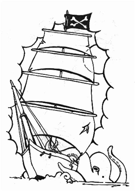 Pirate Ship Line Art   Free download on ClipArtMag