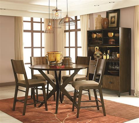5 Pieces Vintage Pub Style Dining Room Sets Design For
