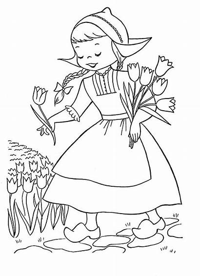 Coloring Pages Dutch Tulips Rembrandt Picking Books