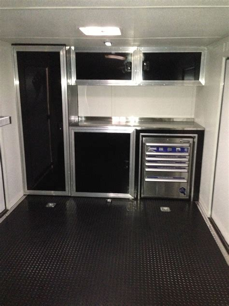 Enclosed Trailer Cabinets by Race Trailer Cabinets Work Enclosed Trailers Enclosed