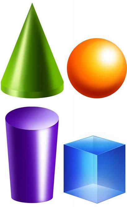 Clipart 3d Geometric Solids Clip Shape Shapes