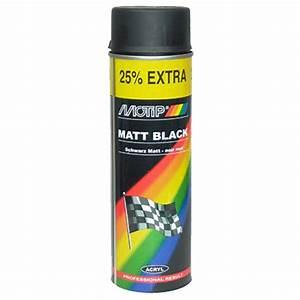 Peinture Noir Mat : bombe de peinture motip noir mat 500ml ~ Carolinahurricanesstore.com Idées de Décoration