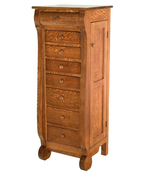 Furniture Jewelry Armoire Classic Sleigh Jewelry Armoire Amish Direct Furniture