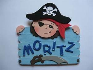 Türschild Kinderzimmer Basteln : t rschild pirat mit wunschname namensschild kind von conchila auf t rschilder ~ Orissabook.com Haus und Dekorationen