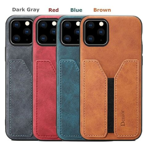 Please check your phone model. For Apple iPhone 11 Pro Max Slim Retro Leather Case Back 3 Cards Holder Cover | eBay