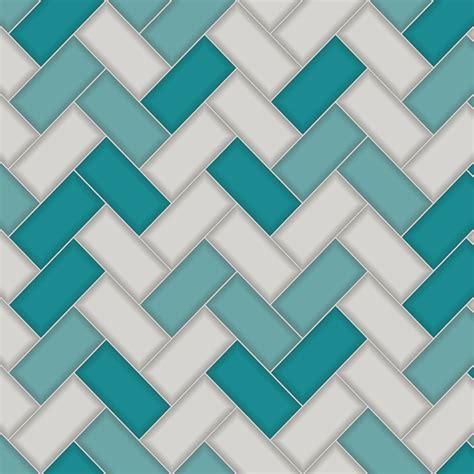 holden decor chevron tile wallpaper  tealgrey