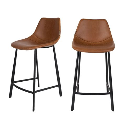 Lot De 2 Tabourets De Bar Vintage Franky Dutchbone