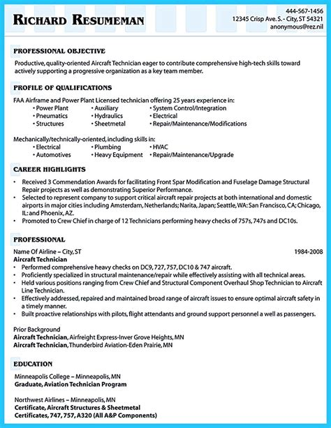 Airline Resume by Successful Low Time Airline Pilot Resume