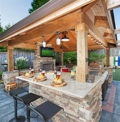 covered patio bar ideas gazebo bar dining for nights http www