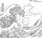 Coloring Tsunamis Science Wave Tsunami Earthquakes Kamigawa Detection sketch template