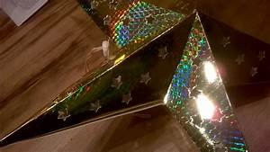 Papierstern Mit Beleuchtung : stern leuchtstern gold rot papierstern 40 cm holografiefolie ~ Watch28wear.com Haus und Dekorationen
