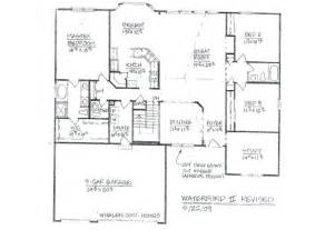 floor plans for 5 bedroom homes whalen custom homes waterford ii 5 bedroom st louis ranch home floor plan
