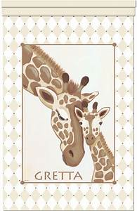 giraffe family wall hanging traditional nursery decor With kitchen cabinets lowes with always kiss me goodnight canvas wall art