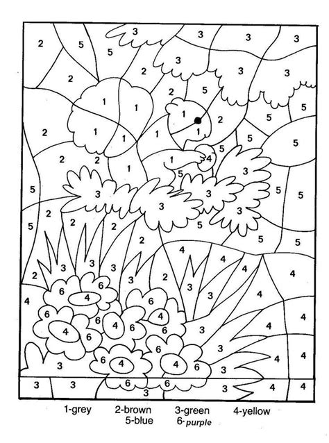 color by number printables printable coloring pages color by number coloring home
