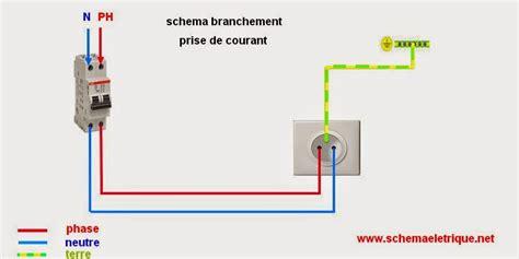 cablage cuisine schéma de branchement prise électrique norme montage prise de courant électrique câblage et
