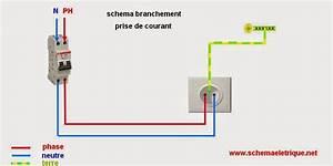 Branchement D Une Prise : sch ma de branchement prise lectrique norme montage prise ~ Dailycaller-alerts.com Idées de Décoration