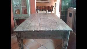 Original Rustic Small Kitchen Table  Antique